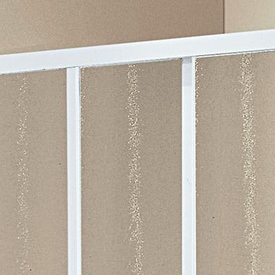 Lato fisso Elba 170 cm, H 185 cm in vetro temprato, spessore 3 mm serigrafato e brinato bianco