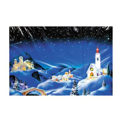 Carta sfondo paesaggio innevato L 100 H 70 cm