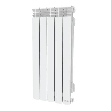 Radiatore acqua calda DE'LONGHI Marvys in alluminio 5 elementi interasse 800 cm