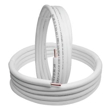 Tubo di rame isolato 1/4 +3/8 sp.1 mm 5 m