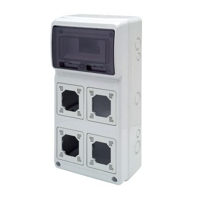 Centralino a incasso 8 moduli IP65