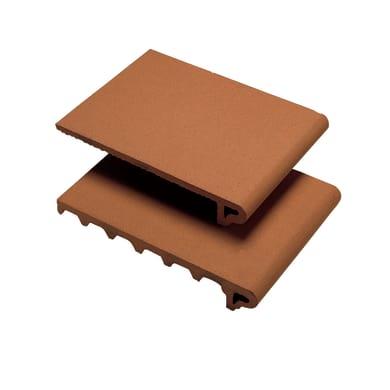 Lastra gradino corto terracotta 25 x 35 cm Sp 55 mm rosso naturale  0.088 mq