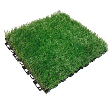 Piastrelle ad incastro in pvc 30 x 30 cm Sp 30 mm,  verde