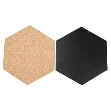 Lavagna Esagonale nero 23x20 cm