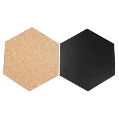 Lavagna senza cornice Esagonale nero 23x20 cm