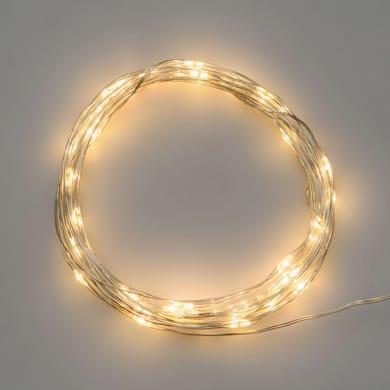 Catena luminosa 20 lampadine LED bianco caldo 400 cm