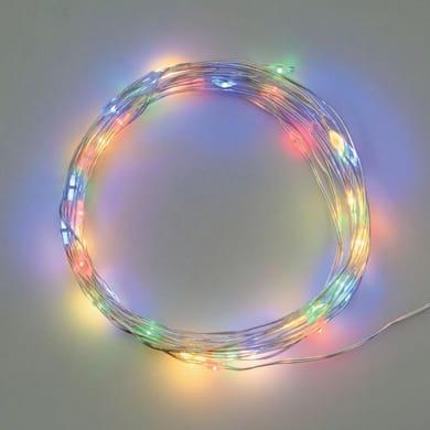 Catena luminosa 20 lampadine LED multicolore 190 cm
