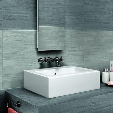 Piastrella Karin H 30 x L 60 cm grigio chiaro