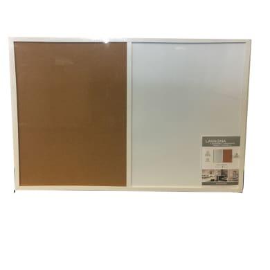 Lavagna magnetica cancellabile Double bianco 90x60 cm