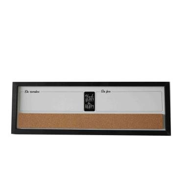Lavagna magnetica cancellabile Mix nero 60x20 cm