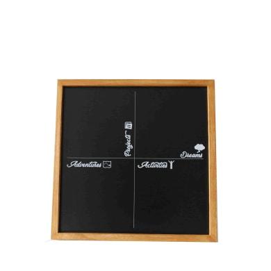 Lavagna per gesso Con stampa naturale 50x50 cm