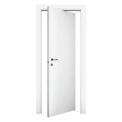 Porta rototraslante City bianco L 80 x H 210 cm destra
