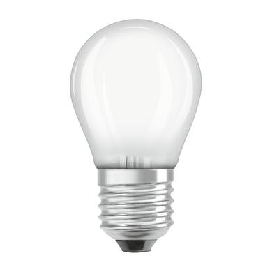 Lampadina LED filamento, E27, Sferico, Opaco, Luce calda, 7W=806LM (equiv 60 W), 360° , OSRAM