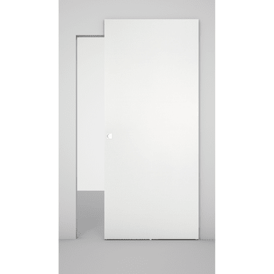Porta scorrevole con binario esterno Space in legno laccato Binario nascosto L 101 x H 230 cm dx