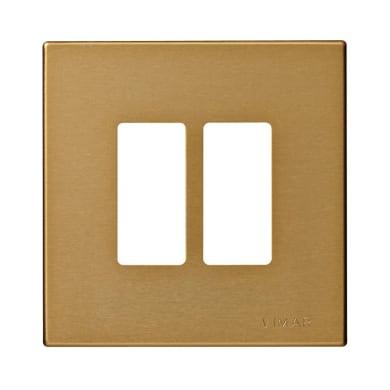 Placca VIMAR 8000 2 moduli bronzo