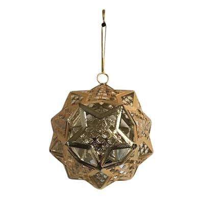 Decorazione per albero di natale in metallo dorata , L 10.5 cm x P 11 cm