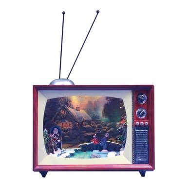TV con scenetta natalizia a LED in plastica H 20.5 cm, L 24 cm  x P 14 cm