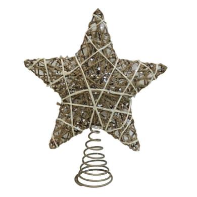 Puntale per albero di natale biancoin metallo H 30 cm