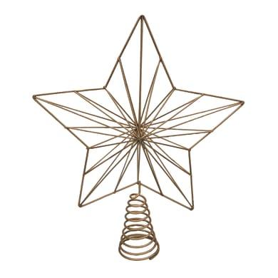 Puntale per albero di natale giallo / doratoin metallo H 30 cm