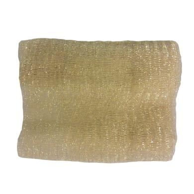 Tessuto natalizio Tessuto decorativo a rete 270 x 80 giallo / dorato