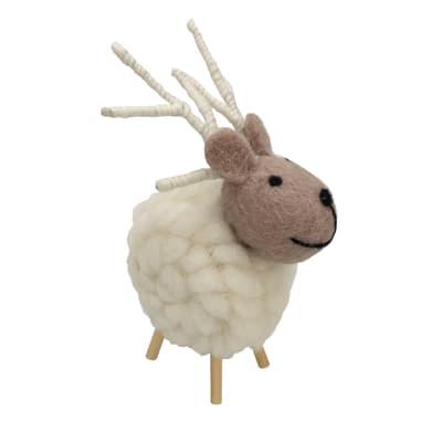 Renna in lana naturale H 12 cm, L 10 cmx P 9.5 cm,
