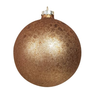 Set 2 palline di Natale in vetro dorate Ø 10 cm