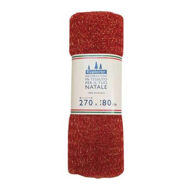 Tessuto natalizio Tessuto decorativo a rete 270 x 80 rosso