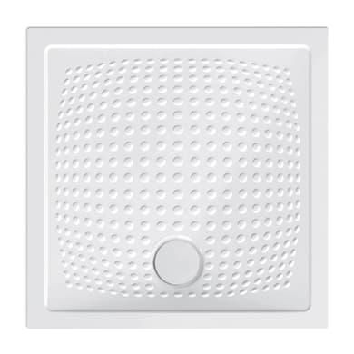 Piatto doccia ceramica Point 80 x 80 cm bianco
