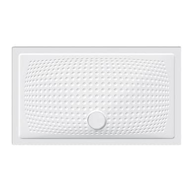 Piatto doccia ceramica Point 120 x 70 cm bianco