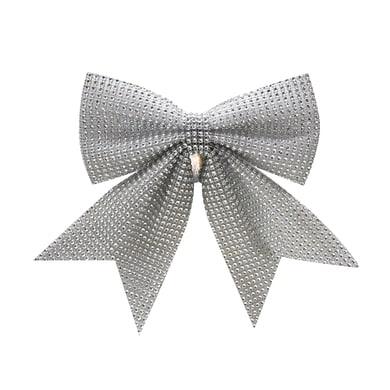 Fiocco Fiocco in tessuto argento H 15 cm, L 15 cm