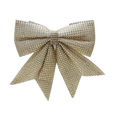 Fiocco Fiocco in tessuto dorato effetto glitter H 25 cm, L 20 cm