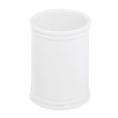 Bicchiere porta spazzolini Impero in porcellana bianco