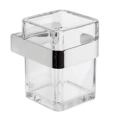 Bicchiere porta spazzolini Serie 25 in plastica trasparente