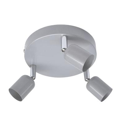 Plafoniera Basic New grigio, in ferro, GU10 3xIP20