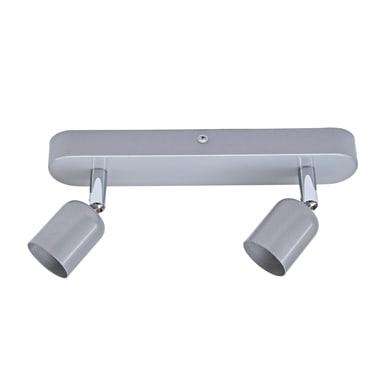 Barra di faretti Basic New grigio, in ferro, GU10 2x50W IP20