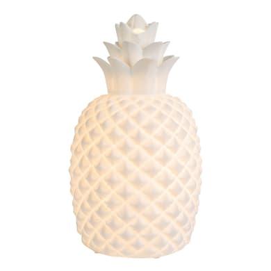 Comodino o soggiorno lampada Ananas bianco, in ceramica, E14 MAX 25W IP20