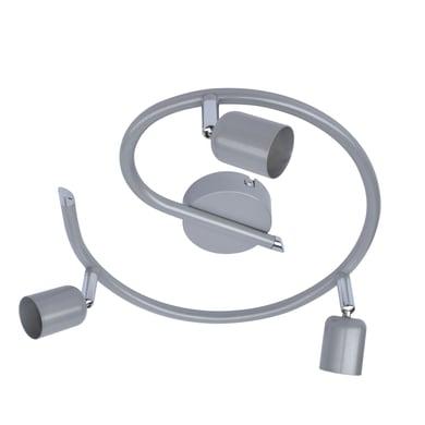 Plafoniera Basic new grigio, in ferro, GU10 3x50W IP20