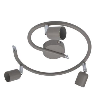 Plafoniera Basic new tortora, in ferro, GU10 3x50W IP20