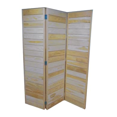 Parete divisoria Oria in legno L 150 x H 185 cm sbiancato