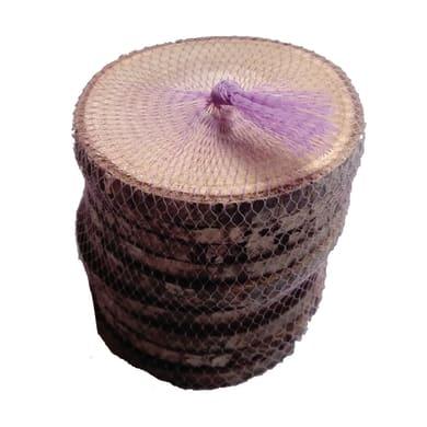 Rondella tondo in castagno grezzo 10 mm Ø 50/60 mm10 pezzi