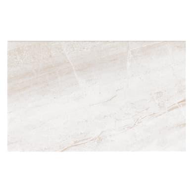 Piastrella per rivestimenti Pietra Bella 25 x 40 cm sp. 6.1 mm bianco e beige