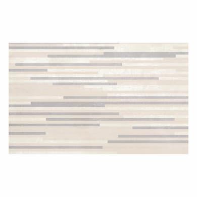 Piastrella per rivestimenti Pietra Bella 3D 25 x 40 cm sp. 7.1 mm bianco e beige