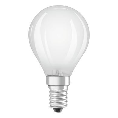 Lampadina LED filamento, E14, Sferico, Opaco, Luce naturale, 5W=470LM (equiv 40 W), 320° , OSRAM