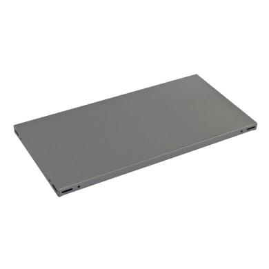 Ripiano in metallo L 70 x H 3 x P 30 cm grigio