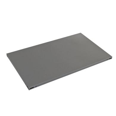 Ripiano in metallo L 70 x H 3 x P 50 cm grigio