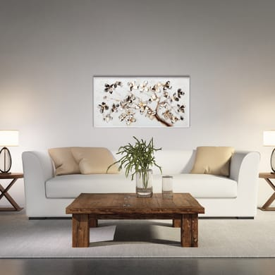 Dipinto su tela Fiori 64x124 cm
