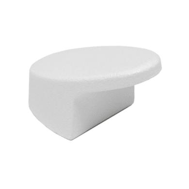 Pomolo in zama bianco Ø 20 mm 4 pezzi