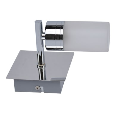 Applique Chennai bianco, cromo e trasparente, in metallo, 10x11 cm, G9 MAX25W IP44 INSPIRE