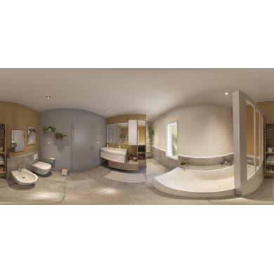 Mobile da bagno sotto lavabo L 105 x P 48 x H 33 cm in mdf quercia di campagna