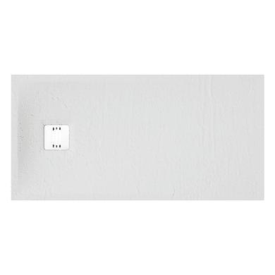 Piatto doccia ultrasottile resina sintetica e polvere di marmo Remix 70 x 140 cm bianco